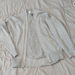 Old Navy girls silver sparkly holiday sweater